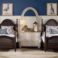 Harbour Pointe King Woven Panel Bed