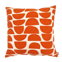 Cushion cover 50x50cm - Bowls in Persimmon