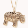 Etched Elephant Pendant | FOREVER 21 - 1052287711
