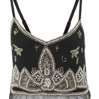 Paisley Beaded Cami Crop Top