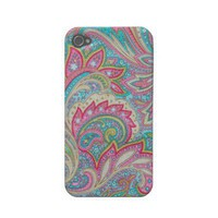 Pink Paisley Case-Mate iPhone 4 Iphone 4 Covers from Zazzle.com