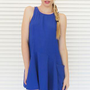 Dress Pocket Tank Swing in Cobalt Blue