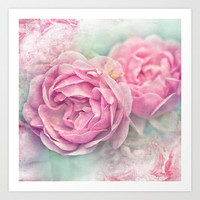 A PINK GARDEN DREAM Art Print by  VIAINA