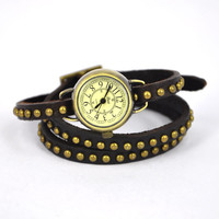Cabochon Embellished Wraparound Watch