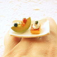 Kawaii Food Ring Fruit Cake Miniature Food by SouZouCreations