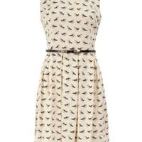 Retro To Go: Bird Print Dress from Dorothy Perkins