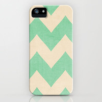 FREE WORLDWIDE SHIPPING - Malibu Mint Green Chevron by CMcDonald