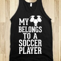 My Heart Belongs To A Soccer Player (Dark Tank) - Sports Girl - Skreened T-shirts, Organic Shirts, Hoodies, Kids Tees, Baby One-Pieces and Tote Bags