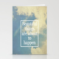Beautiful Things  Stationery Cards by Rachel Burbee
