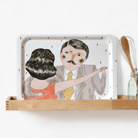 Dancers Tea Tray by Depeapa
