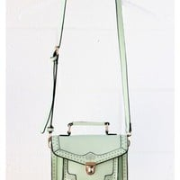 Vintage Mint Satchel