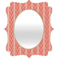 DENY Designs Home Accessories | Heather Dutton Arcada Persimmon Quatrefoil Mirror
