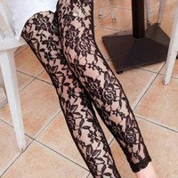 Rose Lace Pants