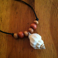 Seashell Necklace - Cancellaria Seashell Necklace - White Seashell Necklace - Seashell Pendant