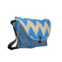 Zigzag #5 - Blue And Cream Bag Messenger Bags at Zazzle.ca