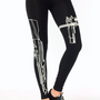 firearm-printed-leggings BLACKCREAM WHITEBLACK - GoJane.com
