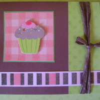 Handmade Card - Glitter Cupcake Birthday Card