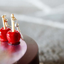 Candy apple on a stick earrings