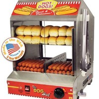 The Dog Hut Hotdog Steamer and Merchandiser: Sports & Outdoors
