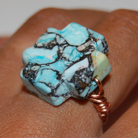 Semi Precious Wire Wrapped Ring by NaughtyBaubles on Etsy