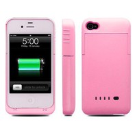 Ultra iphone 4 / 4s External Rechargeable Spare Backup Extended 1900 mAh Battery Charger Pack Case Cover for Apple iphone 4s