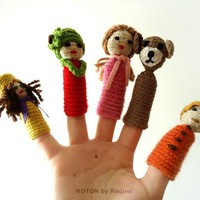 Amigurumi Finger Puppets  Create your Story on Handmade Artists&#x27; Shop