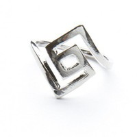 Brandy ♥ Melville |  Silver Labyrinth Ring - Rings - Jewelry - Accessories