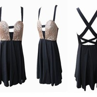 Glitter Strap Back Dress from Armkel