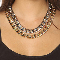 8 Other Reasons The Two Timer Double Chain Necklace : Karmaloop.com - Global Concrete Culture