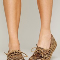 Free People Mainland Distress Boatshoe