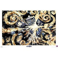 Doctor Who - TV Show Poster (Van Gogh's Exploding Tardis) (Size: 36 x 24) Poster Print, 24x36