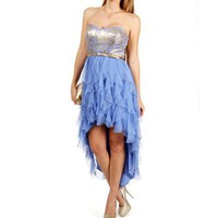 Karista-Gold/Periwinkle Prom Dress