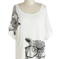 Bard Owl Top | Mod Retro Vintage T-Shirts | ModCloth.com