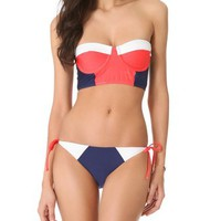 Splendid Sunblock Bustier Bikini Top | SHOPBOP