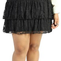 plus size lace skirt with colored lining - 400003363445 - debshops.com