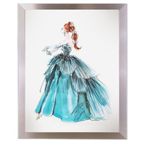 Fashion Peyton Barbie Print in Modern Silver Frame