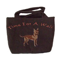 Chihuahua Walking Bag, Dog Travel Tote, Leash Bag