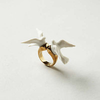 Anthropologie - Perched Lovebirds Ring
