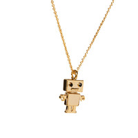 Flash Trash Girl Robot Necklace