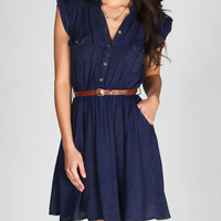ANGIE Mineral Wash Belted Shirt Dress 222026200 | Dresses | Tillys.com