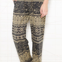Staring At Stars Brown Printed Lounge Trousers at Urban Outfitters