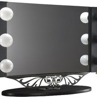 Starlet Table Top Lighted Vanity Mirror 34&quot; - Black