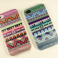 romefashion  blue red totem retro Impact Case for iphone 4/4s/5