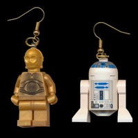 R2-D2 and C-3PO Lego earrings