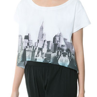 CITY GRAPHIC T-SHIRT - TRF - New this week - ZARA United States