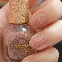 [578-Gold] Shinning Pink Sweet Color 12ml Nail Polish [578]