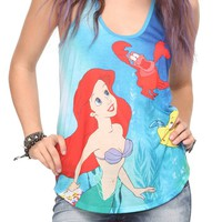 The Little Mermaid Ariel Sea Girls Tank Top - 10007179