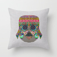 VADER GOT TIRED OF BLACK / makeover Throw Pillow by Bianca Green