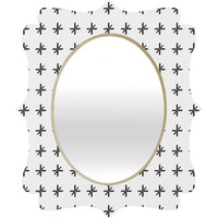 DENY Designs Home Accessories | Wesley Bird Cross Out White Quatrefoil Mirror