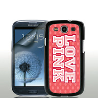 Love Pink - Samsung Galaxy S3 Case with Free Screen Protector